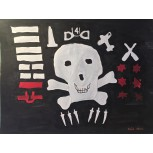 Jolly Roger flag from HMS Seraph